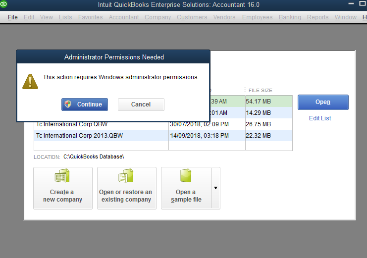 I have problems with my Enterprise Quickbooks, when I trying