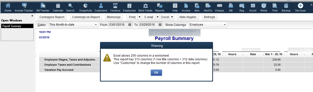 Payroll summary report, Employees on the side - QuickBooks Learn ...