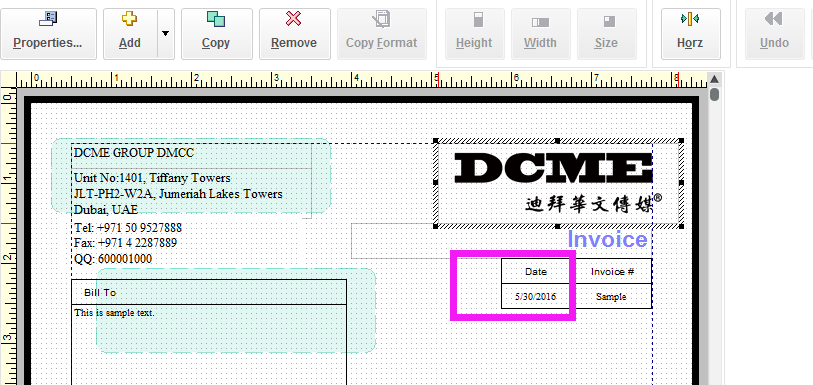 Change Format Of Date And Amount Add Amount In Words On Invoice - Invoice amount