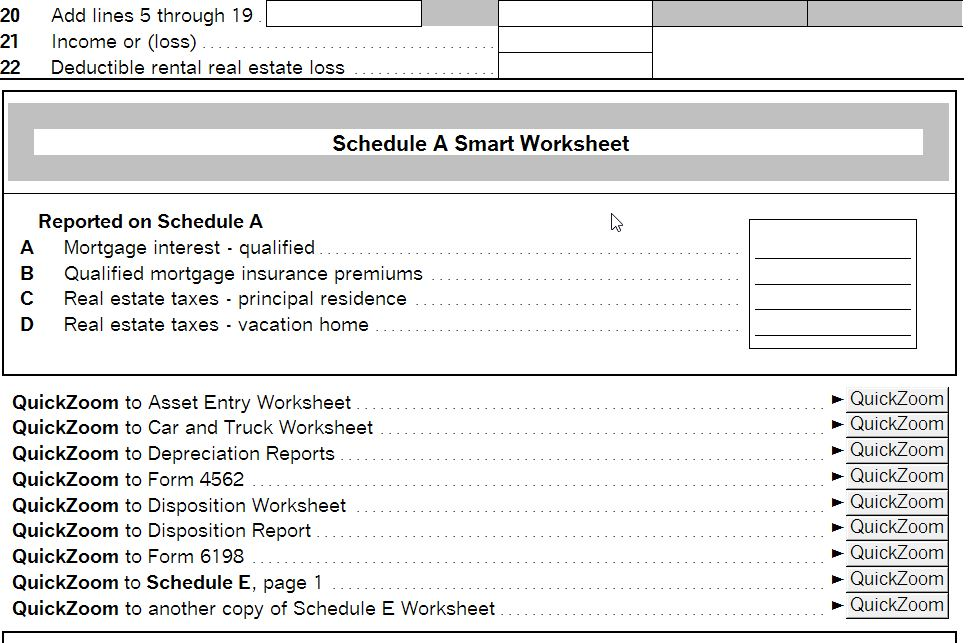 Fillable Online Schedule E Worksheet - Rent and Royalty Income ...