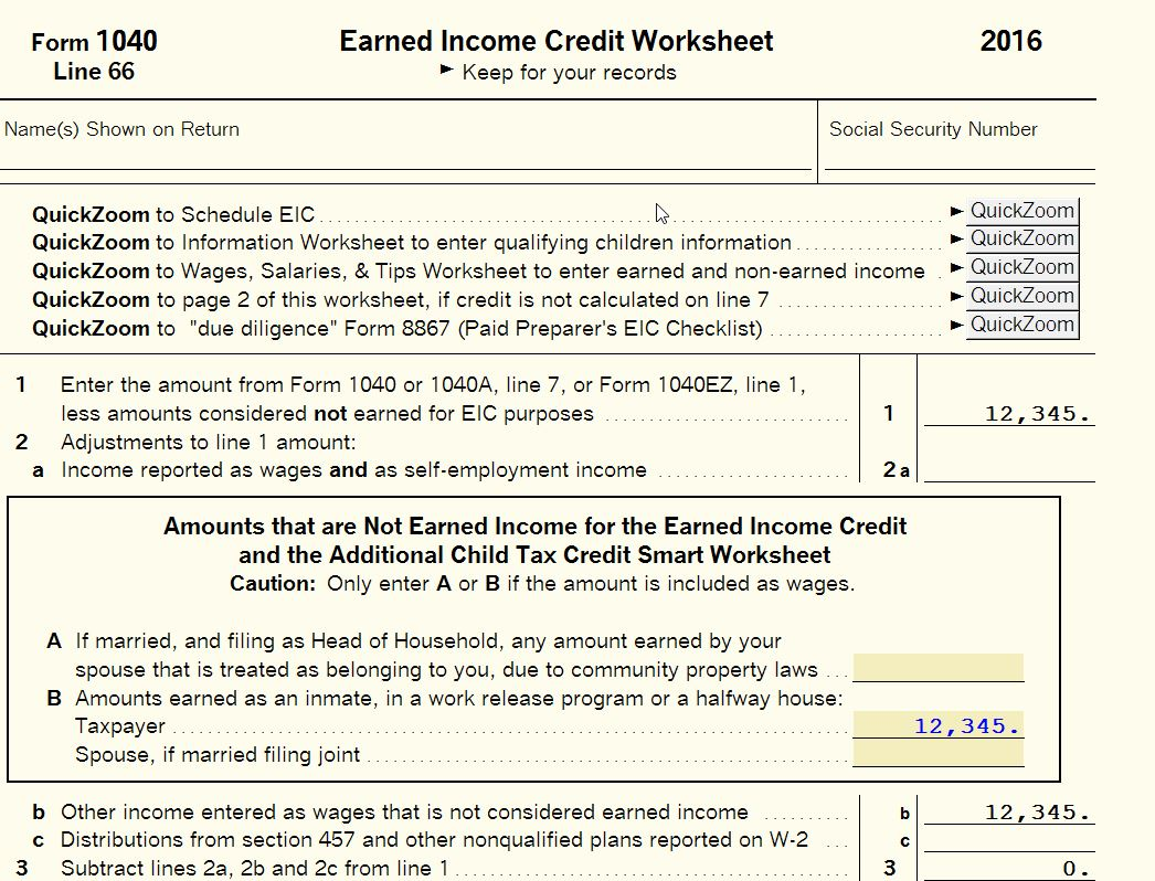 Need instructions for ProSeries Basic for notice 20147 Exclude – Earned Income Worksheet