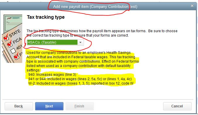 How do I set up employer HSA contributions so they show up on W2 ...