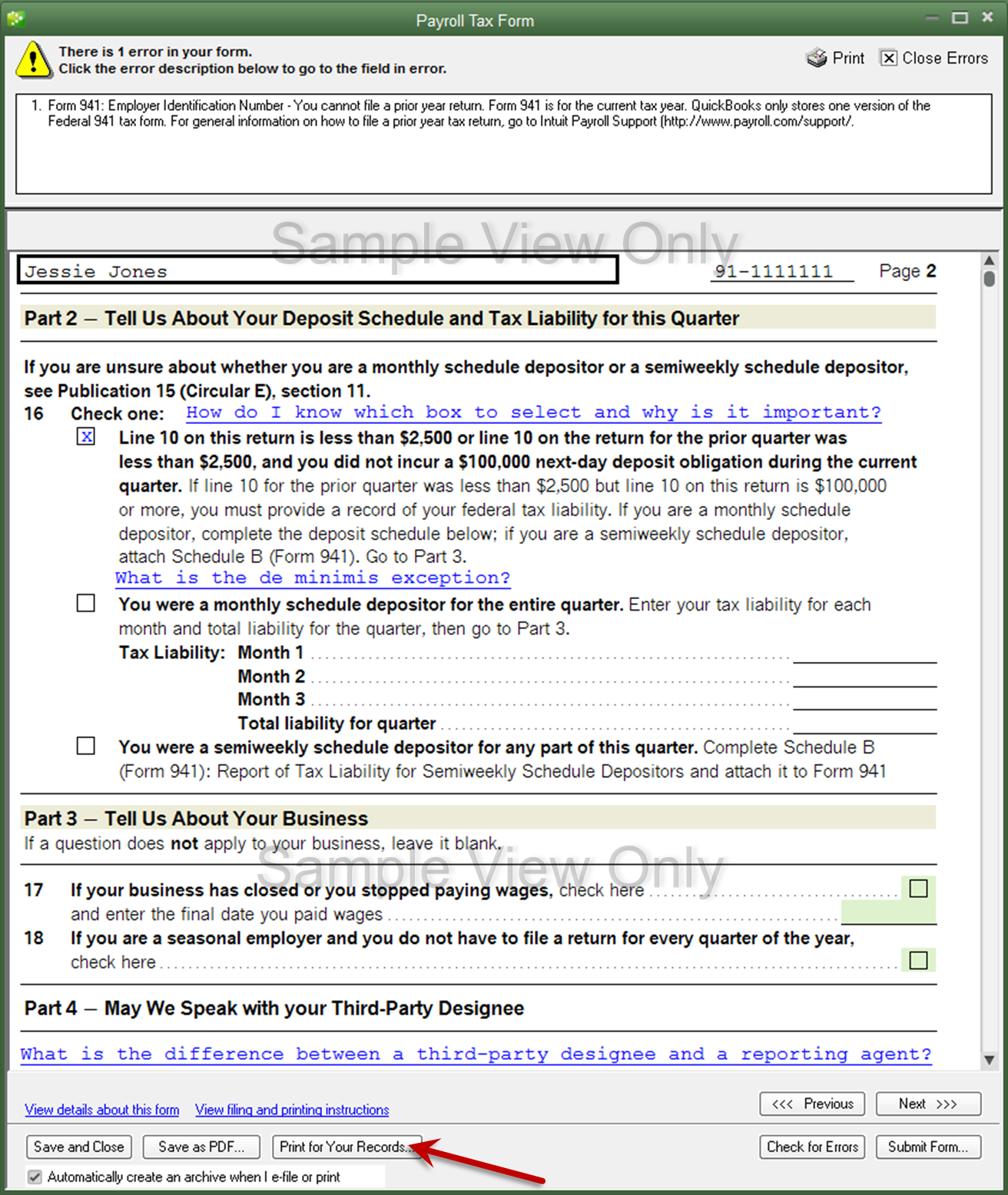 How can I print W-2's or 941's from prior years? - QuickBooks ...