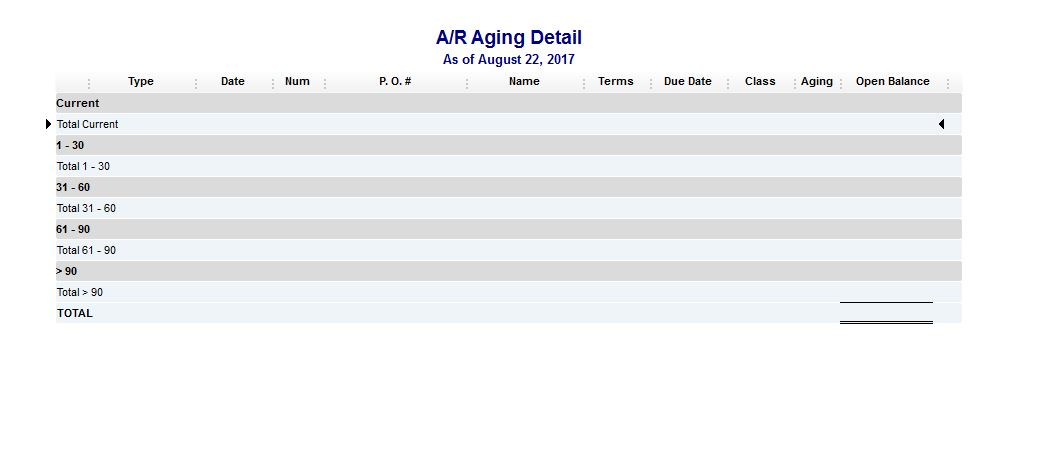 AR Aging Detail Report Is All Of A Sudden Blank How Do I Fix This - Quickbooks invoice report by date
