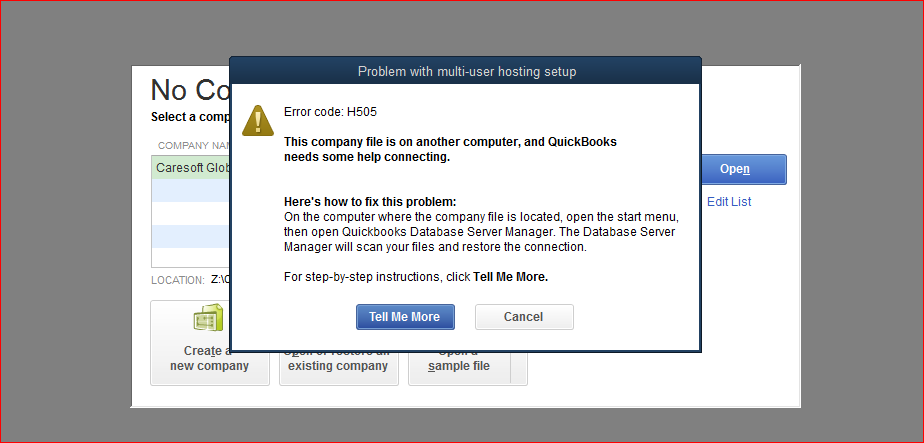 We Are Getting H505 Error Quickbooks Learn Support