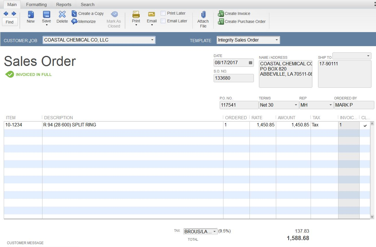 AFTER INVOICE CREATED SALES ORDER STILL SHOWING UP And I Dont - Invoice jpg