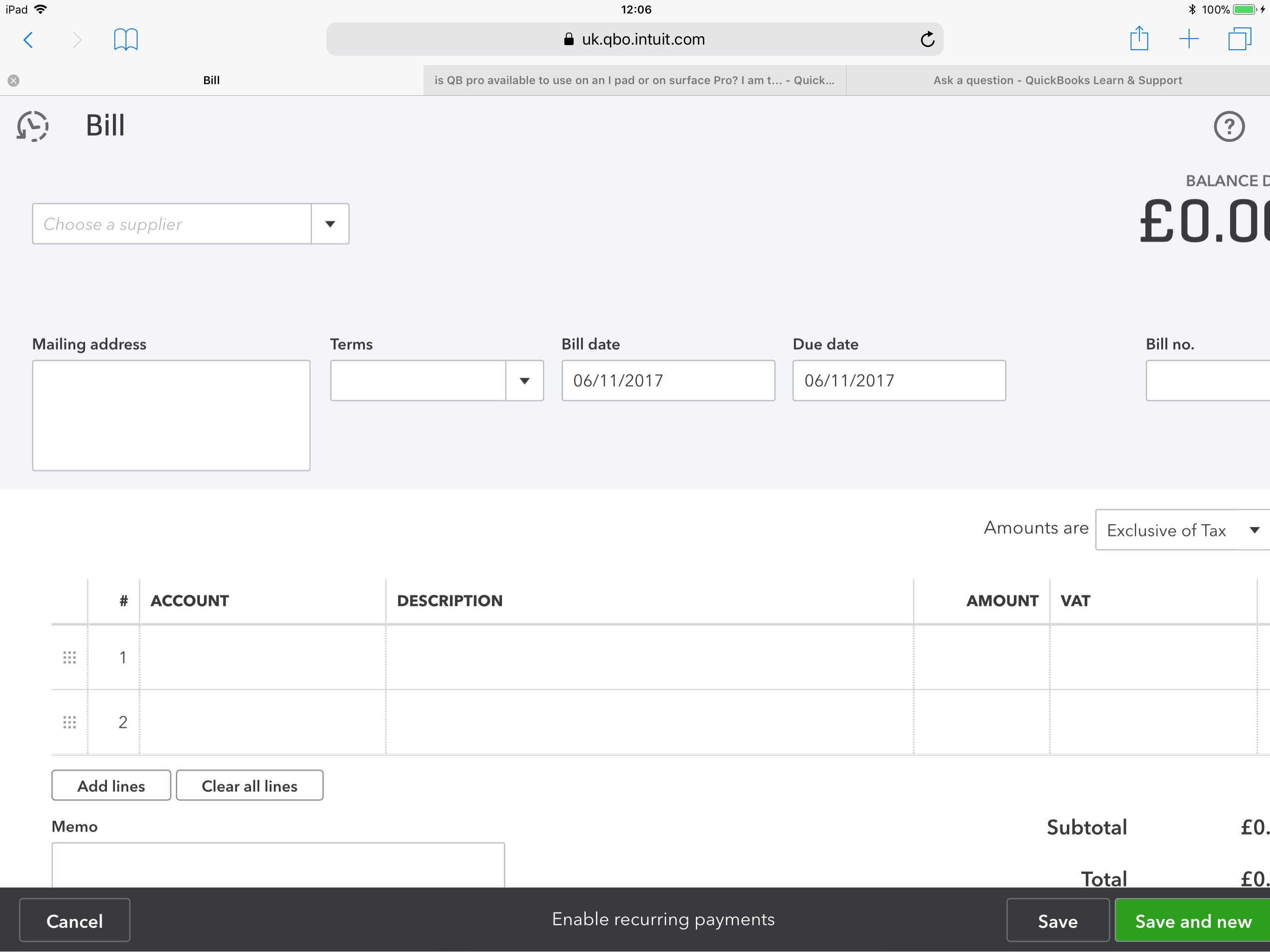 Im A Newcomer To Quickbooks Viewing On A New IPad Pro However - Quickbooks invoice app