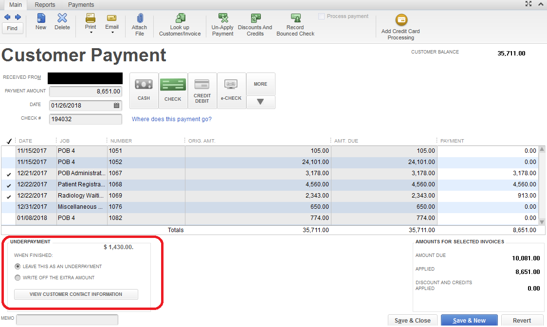 quickbooks online apply credit memo Customer overpaid on multiple job check. Issued credit memo from ...