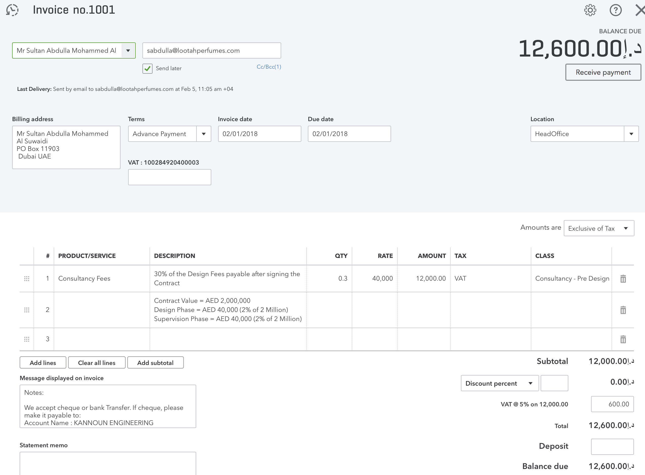 I Am Making Tax Invoice And Charging VAT On My Services Howeve - Create invoice in quickbooks online thrift store