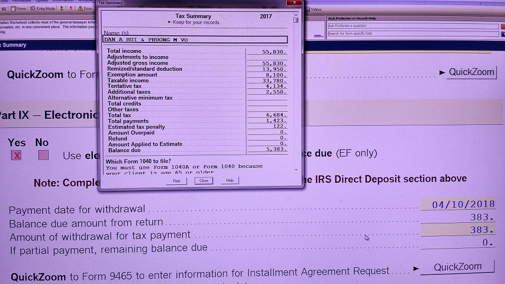 Have Error Notify When Installment Agreement Request With Some A